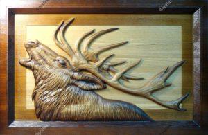 Картина лось олень