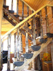 Лестница состаренная