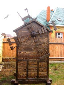 Декоративная мельница из дерева