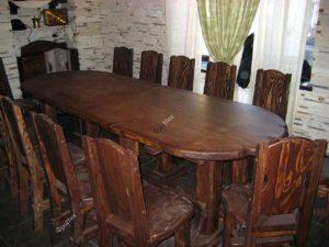 Круглый обеденный стол на кухню