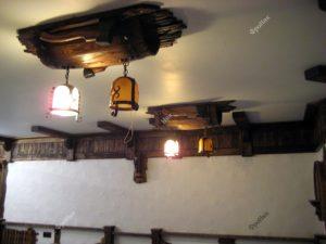 Светильники бочка под старину в кафе