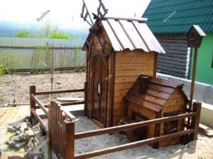 Собачья будка из дерева