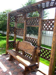 Скамейка для дачи и сада