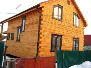 Украшение деревянного дома из бруса