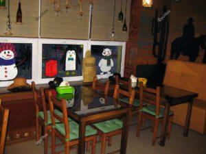 Деревянный интерьер кафе Вестерн Хаус
