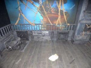 Отделка деревом под пиратский корабль