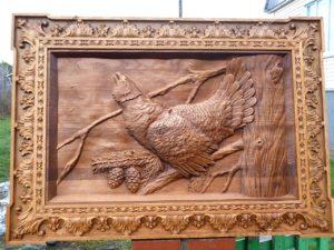 Картинка из дерева курица и яйца