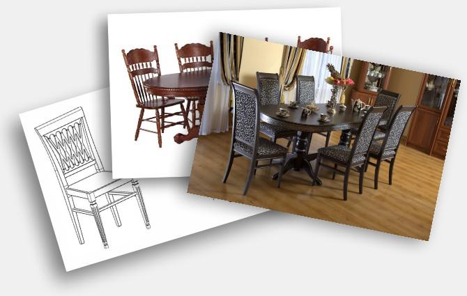 Отправьте столы и стулья на расчет цены