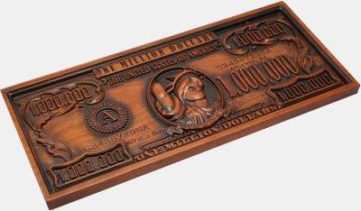 Подарок деревянная купюра денег