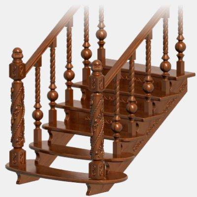 Лестницы из дерева на заказ в Тюмени