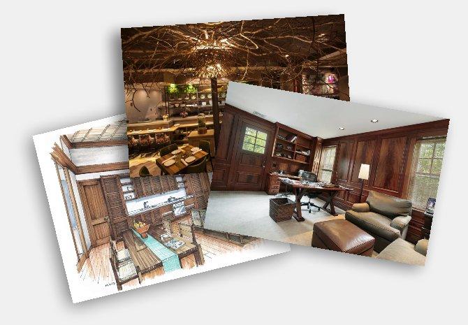 Отправьте нам фото деревянного интерьера на заказ