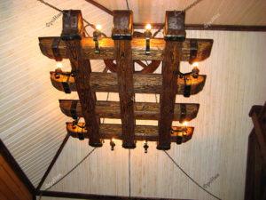 Деревянные балки для люстры