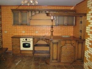 Кухонный гарнитур из массива на заказ