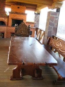 Столы и стулья на заказ из массива
