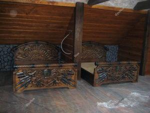 Кровать в стиле викингов