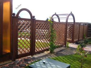 Забор штакетник накрест